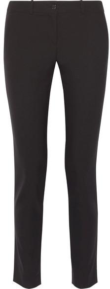 Michael Kors Collection - Samantha Stretch-cotton Slim-leg Pants - Black