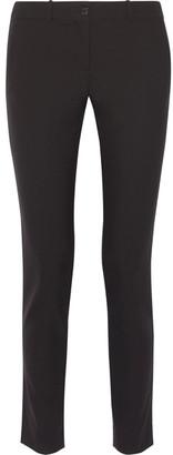 Michael Kors Collection - Samantha Stretch-cotton Slim-leg Pants - Black $595 thestylecure.com