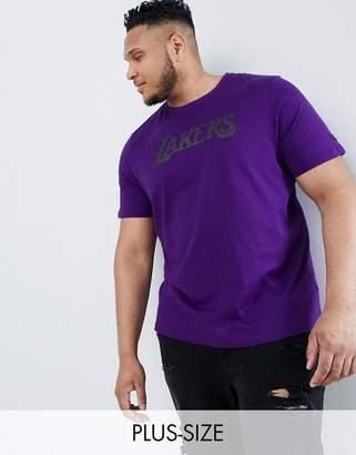 New Era Lakers t-shirt in purple