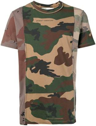 Off-White reconstructed camouflage print T-shirt