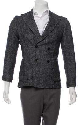 Oliver Spencer Woven Double-Breasted Blazer