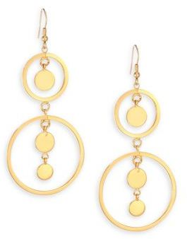 Jules Smith Open Circle Disc Drop Earrings $100 thestylecure.com