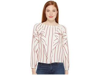 Intropia Striped Blouse w/ Ruffles Women's Blouse