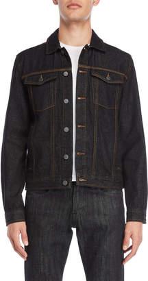 Calvin Klein Album Trucker Raw Denim Jacket