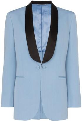 Calvin Klein two-tone wool tuxedo jacket