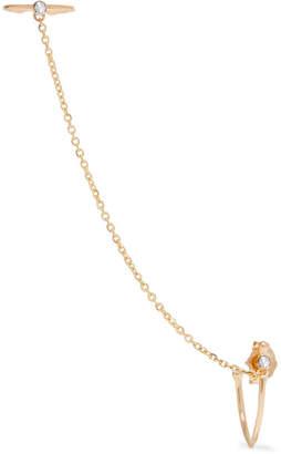 Loren Stewart 14-karat Gold Diamond Ear Cuff