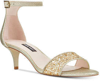 Nine West Leisa Two-Piece Kitten Heel Sandals Women's Shoes