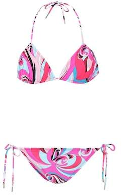 Emilio Pucci Beach Printed triangle bikini