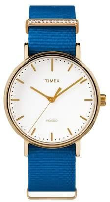 Timex R) Fairfield Nylon Strap Watch, 37mm