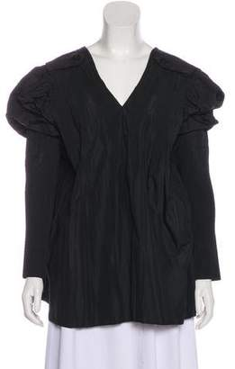 Sacai Pleat-Accented Long Sleeve Top