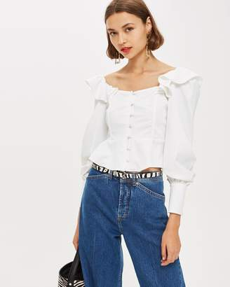 Topshop Structured Blouse