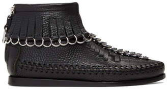 Alexander Wang Black Montana Moccasin High-Top Sneakers