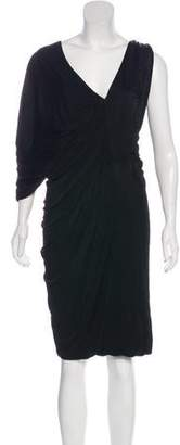 Yigal Azrouel Satin Ruched Dress