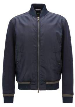BOSS Hugo Lightly quilted bomber jacket in water-repellent fabric 38R Open Blue