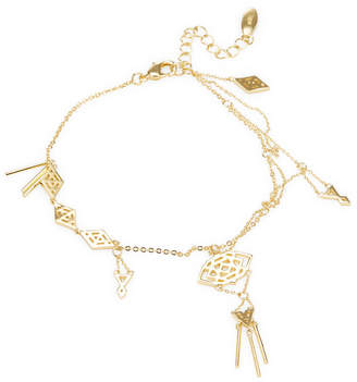 Noir Geometric Cut-Out Charm Bracelet