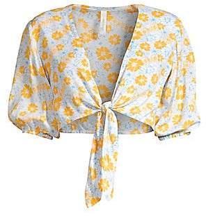 Cool Change coolchange Women's Bonnie Cropped Floral Tie-Front Top