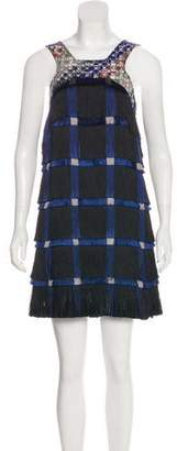 Marco De Vincenzo Fringe Sleeveless Dress