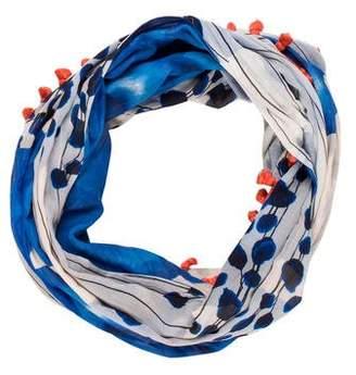 Diane von Furstenberg Printed Tassel Infinity Scarf