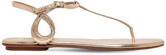 Aquazzura 10mm Almost Bare Mirror Leather Flats