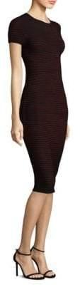 Escada Metallic Knit Sheath Dress