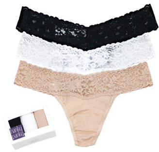 Hanky Panky Three-Pack Cotton Conscience Low Rise Thongs