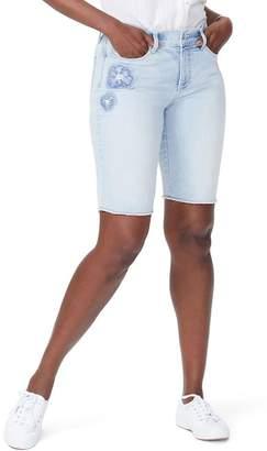 NYDJ Briella Dream Blossom Denim Bermuda Shorts