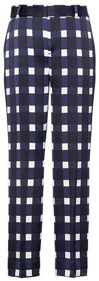 Banana Republic Petite Avery Straight-Fit Gingham Ankle Pant