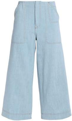 Acne Studios Cropped High-Rise Wide-Leg Jeans