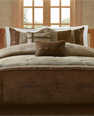 Madison Park Boone Microsuede 7-Pc. Queen Comforter Set Bedding