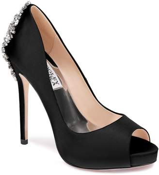 Badgley Mischka Kiara Satin Platform Pump