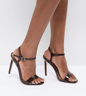 fc96cd1a1bf Barely There Asos Design ASOS HANDS DOWN Wide Fit Heeled Sandals