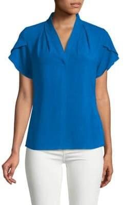 Calvin Klein V-Neck Short-Sleeve Top