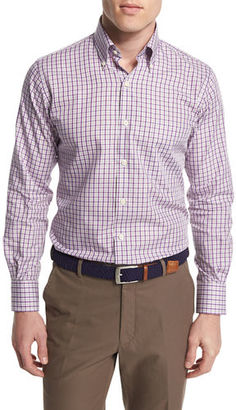 Peter Millar Check Long-Sleeve Sport Shirt $125 thestylecure.com