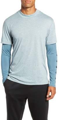 Nike Breathe Rise 365 Layered Long Sleeve T-Shirt