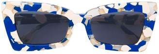 Le Specs square printed sunglasses