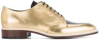 Lanvin contrast lace-up shoes