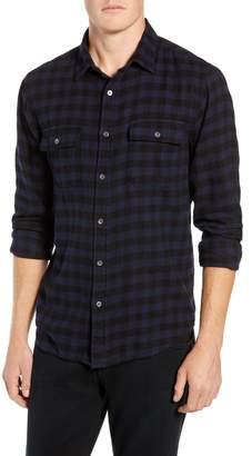 Frame Classic Fit Long Sleeve Double Flap Pocket Sport Shirt