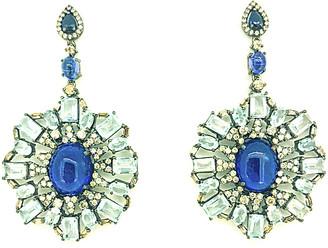 Arthur Marder Fine Jewelry Silver 1.75 Ct. Tw. Diamond & Gemstone Earrings