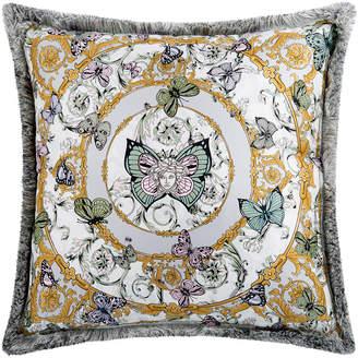 Versace Le Jardin Silk Reversible Cushion - 50x50cm