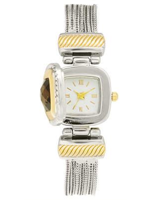 Charter Club Women Flip Cover Two-Tone Bracelet Watch 25mm