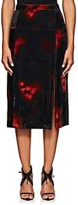 Altuzarra Women's Pennant Tie-Dyed Velvet Skirt - Red, Black