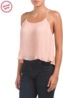 Lush Juniors Pleating Woven Top