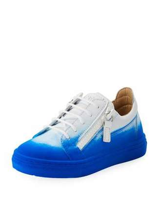Giuseppe Zanotti Smuggy Elettrico Ombre Low-Top Sneakers, Toddler/Youth Sizes 10T-2Y