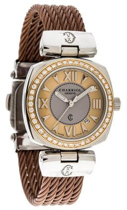 Charriol Charriol Two-Tone Diamond Watch
