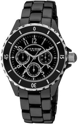 Akribos XXIV Unisex Black Strap Watch-A-544bk