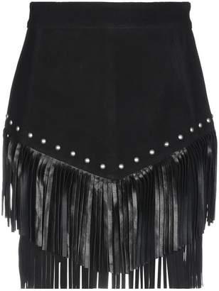 dbf8baf2a8b Black Leather Zip Skirt - ShopStyle UK