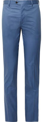 Etro Blue Slim-Fit Stretch-Cotton Suit Trousers