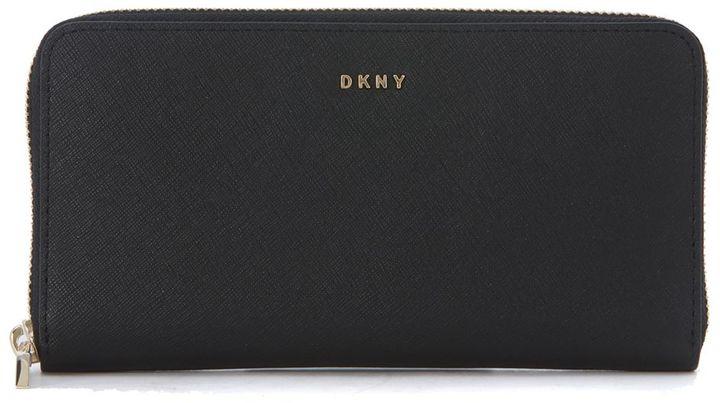 DKNYDkny Black Saffiano Leather Wallet