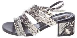 Robert Clergerie Snakeskin Slingback Sandals