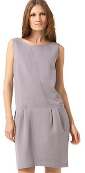 Nina Ricci Japanese Paper Denim Shift Dress